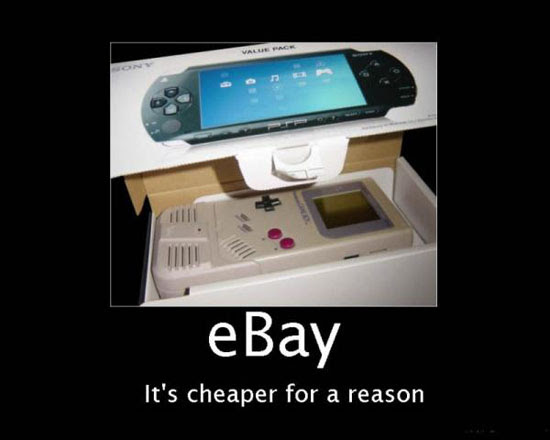 Ebay cheaper for a reason