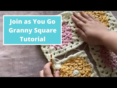 Crochet Tip: Join as You Go Method for Granny Squares