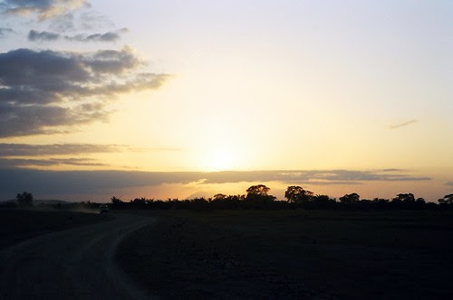 sunset of Amboseli