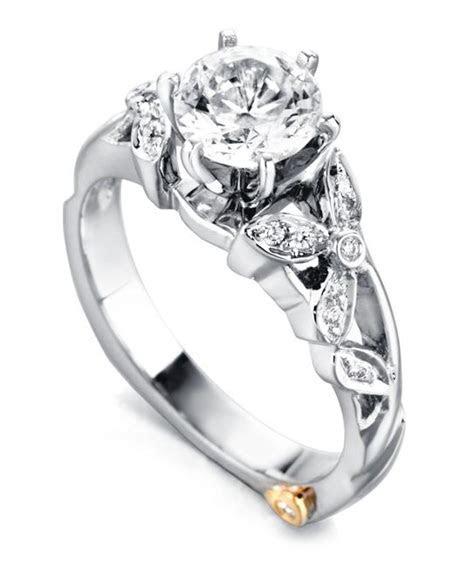 Floral Engagement Rings   Flower Wedding Rings