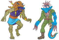 (TMNT Spinoff) ..Mutanimals The Animated Series! - Dreadmon & Wyrm ..[[Courtesy of Ryan Brown]] ((1992))