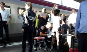 Passenger receives medical attention at Arras train station
