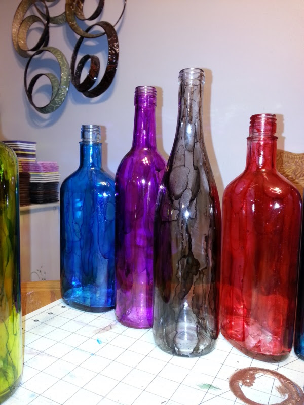 Original Alcohol Ink On Glass Examples38