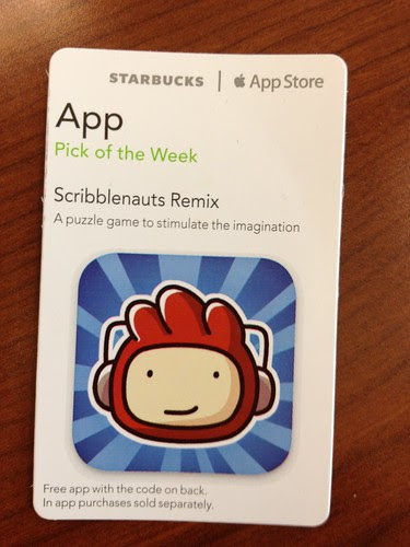 Starbucks iTunes Pick of the Week - Scribblenauts Remix