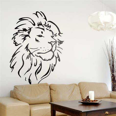 lion head wall sticker  oakdene designs