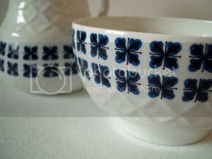 alfred meakin vintage ceramic sugar bowl and milk jug