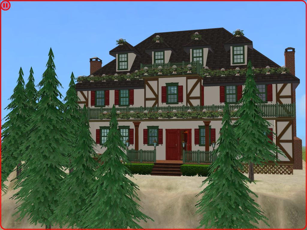 Mod The Sims  Cozy Christmas Cottage