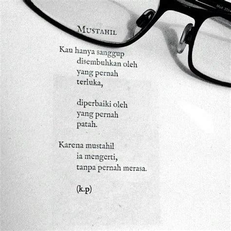 puisi aan mansyur mustahil buku puisi tidak