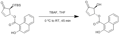 "<br /><br />    Reaction Scheme: <IMG src=""/images/empty.gif"">Deprotection of a tert-butyldimethylsilyl ether<IMG src=""/images/empty.gif"">"
