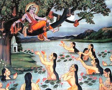 lord krishna with gopis
