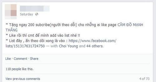 facebook, trào lưu, bán follow, phát hiện
