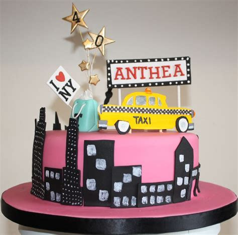 New York Themed Birthday Cake   Cake Pictures