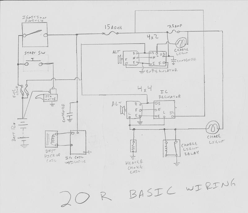 84 Toyota Pickup Alternator Wiring Diagram Free Picture Pre Fuse Box Bege Wiring Diagram