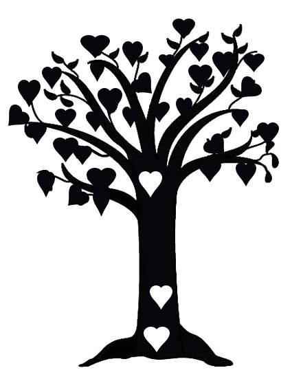 tree of hearts 150 x 170