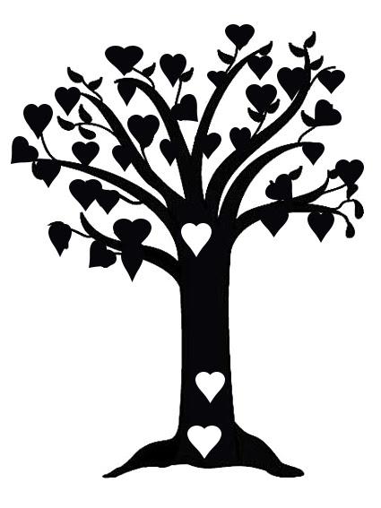 tree of hearts 150 x 170