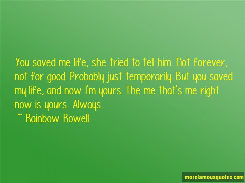 You Saved My Life Quotes Top 79 Quotes About You Saved My Life From