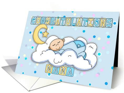 Nana   New Baby Boy Congratulations card (620864)