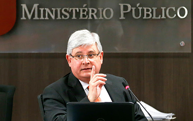 O procurador geral da República, Rodrigo Janot, durante reunião do Conselho Nacional do Ministério Público