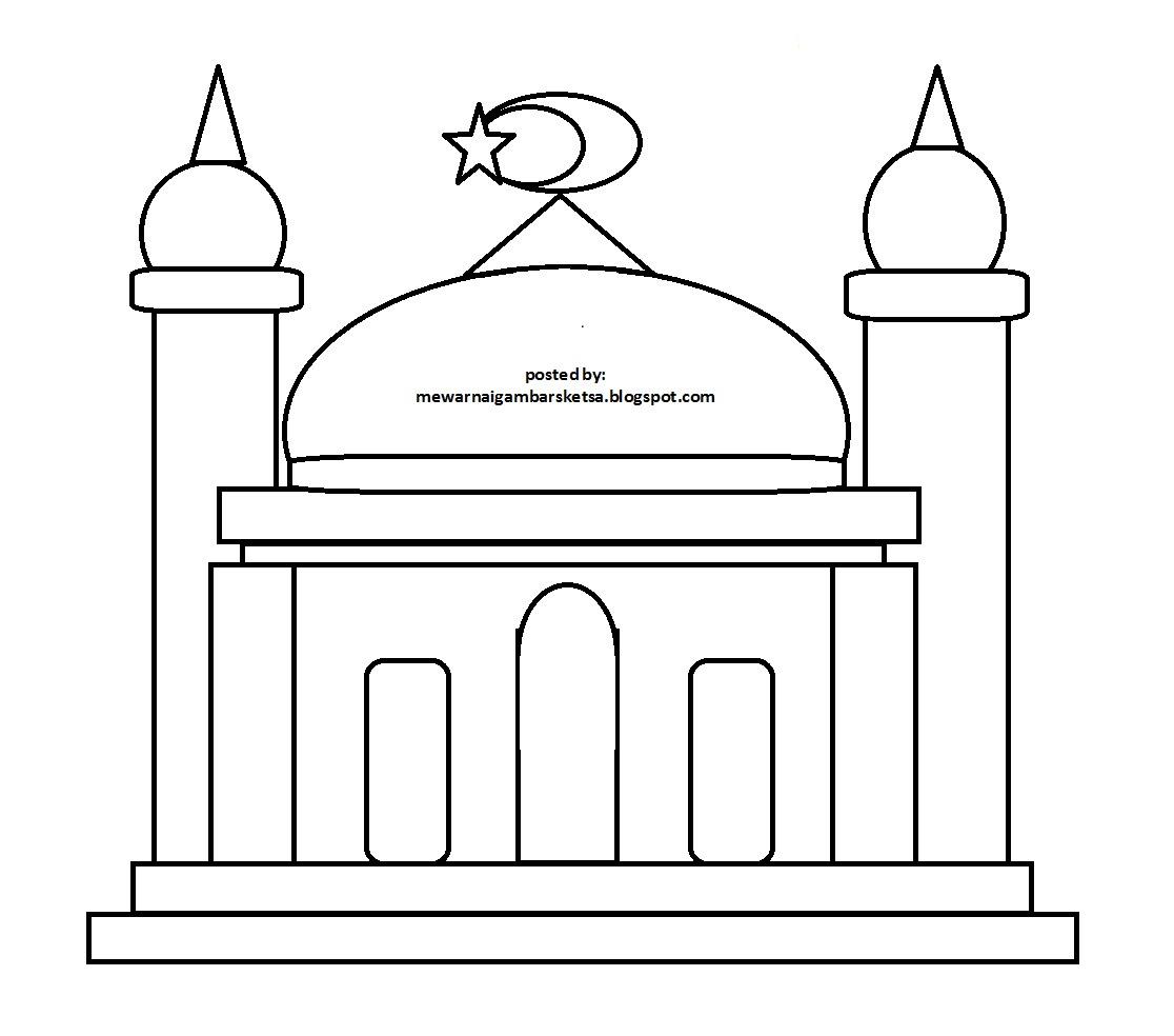 Contoh Gambar Masjid Untuk Lomba Mewarnai Gambarcoloring Website
