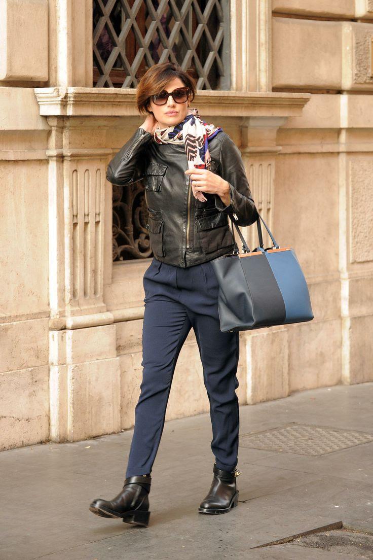 Italian celebrity Luisa Ranieri sports a timelessly chic Fendi S/S 2014 3Jours bag