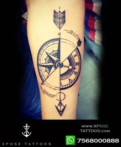 Compass Arrow Tattoo By Xpose Tattoos Jaipur Xpose Tattoos Jaipur