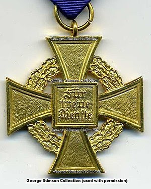 Civil Service Faithful Service Medal in Gold R...