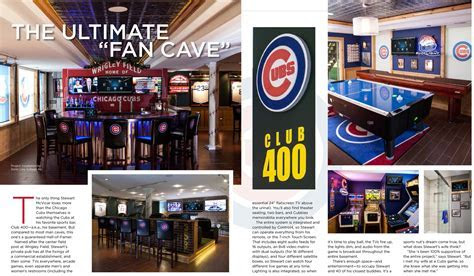Out Of This League: An Incredible Cubs Man Cave   Home