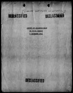 Report of Japenese Raid on Pearl Harbor 7 December 1941
