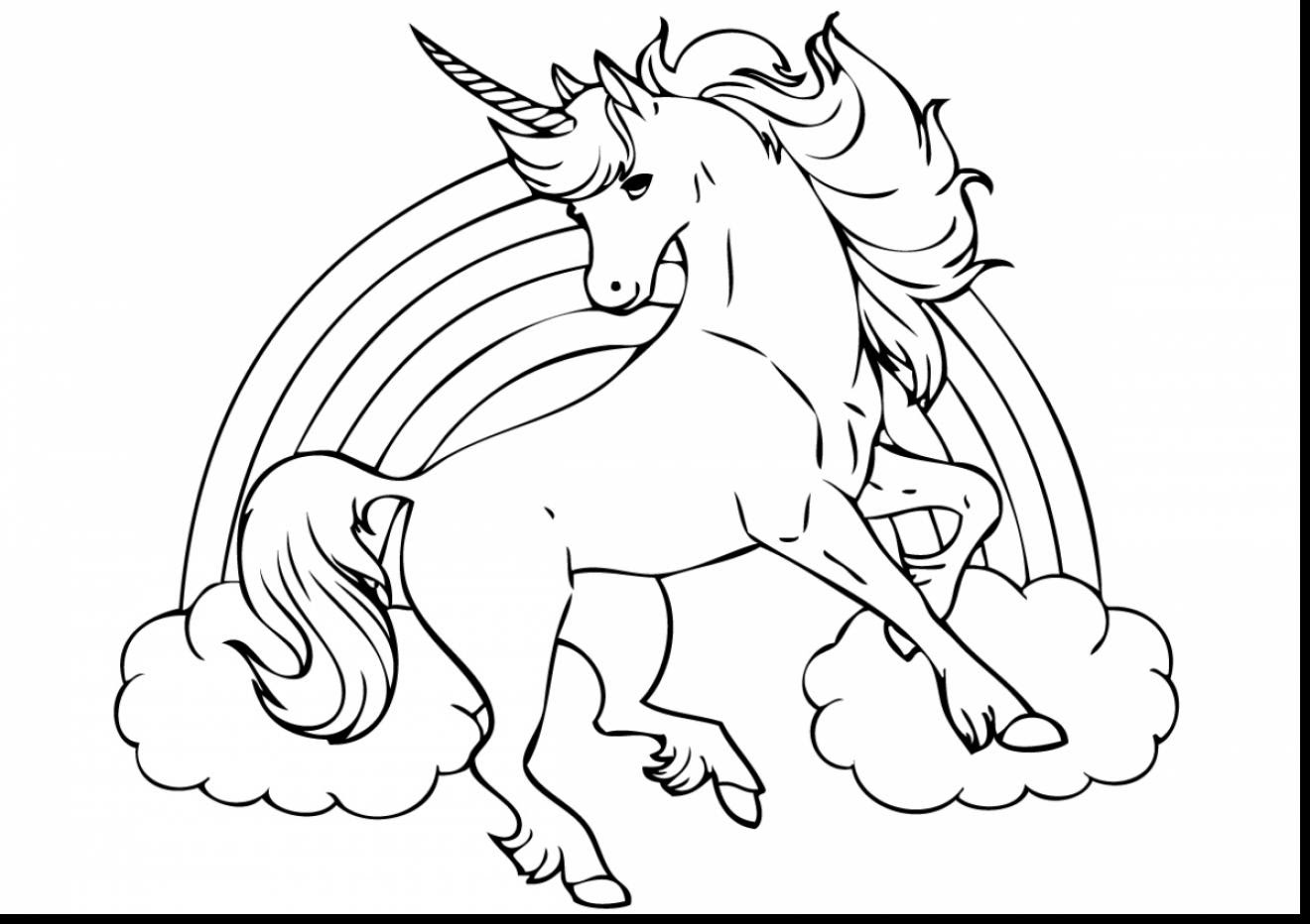 Unicorn Coloring Pages For Girls at GetDrawings   Free ...