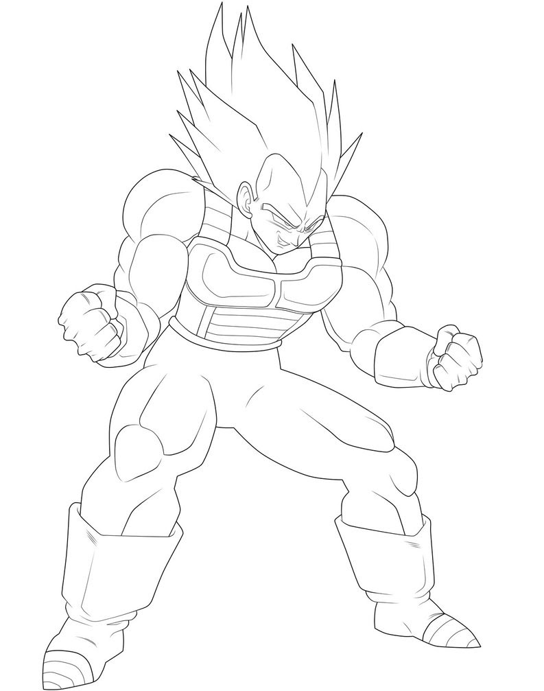 Dragon Ball Z Vegeta Drawing At Getdrawingscom Free For Personal