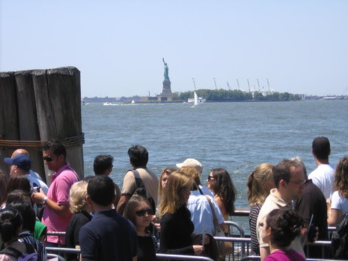 Line for Liberty Island ferry