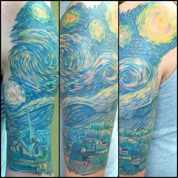 Finnished My Starry Night By Jeremy B At All Star Tattoo St Louis