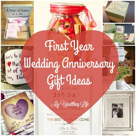My Unsettling Life: First year wedding anniversary gift ideas