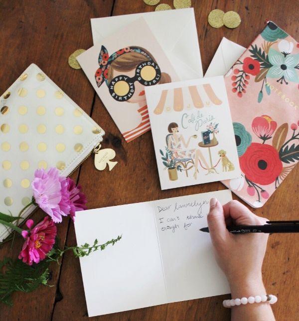 Pretty paper goods to spread the love & say hello