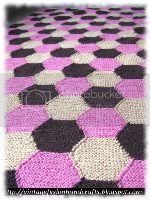 knitted hexagon lapghan for living room sofa
