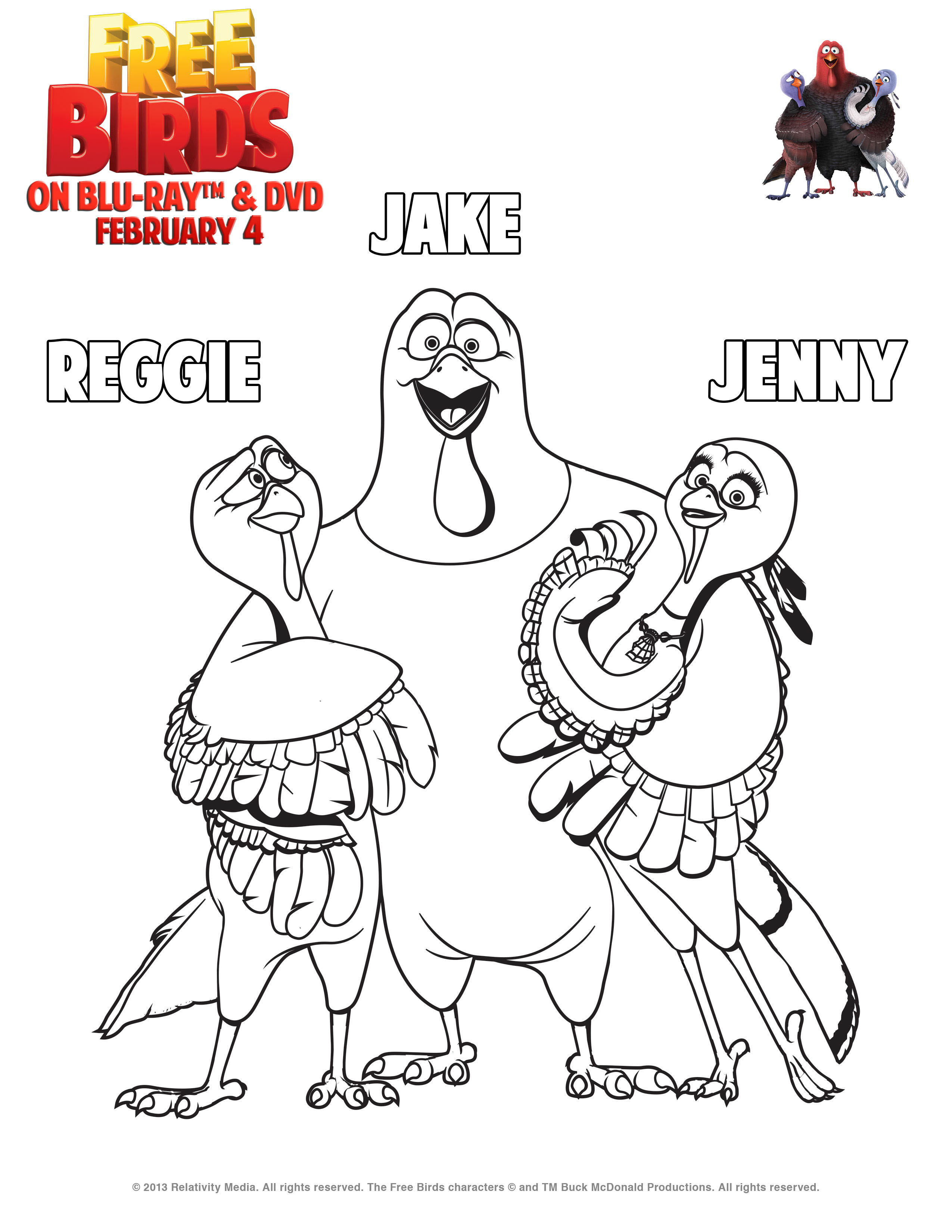 Free Birds Printable Coloring Pages and Activity Sheets ...