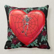 Spider Heart throwpillow