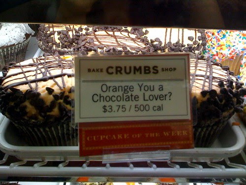 Crumbs Bakeshop Midtown NYC chocolate orange cupcakes