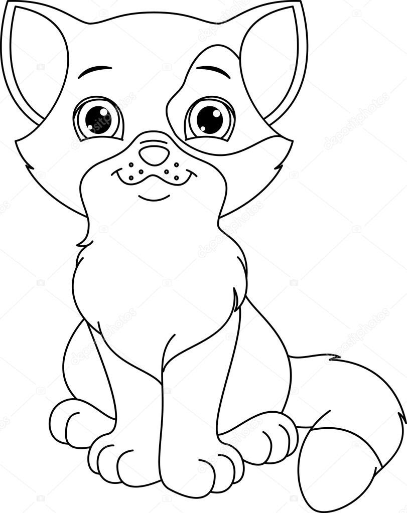 depositphotos_68233483 stock illustration kitten coloring page