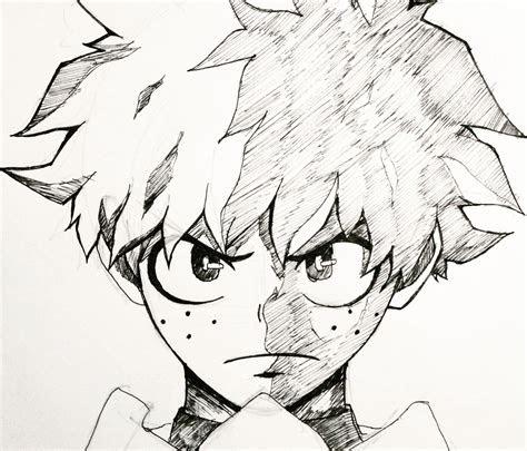 drawing  midoriya   hero academia