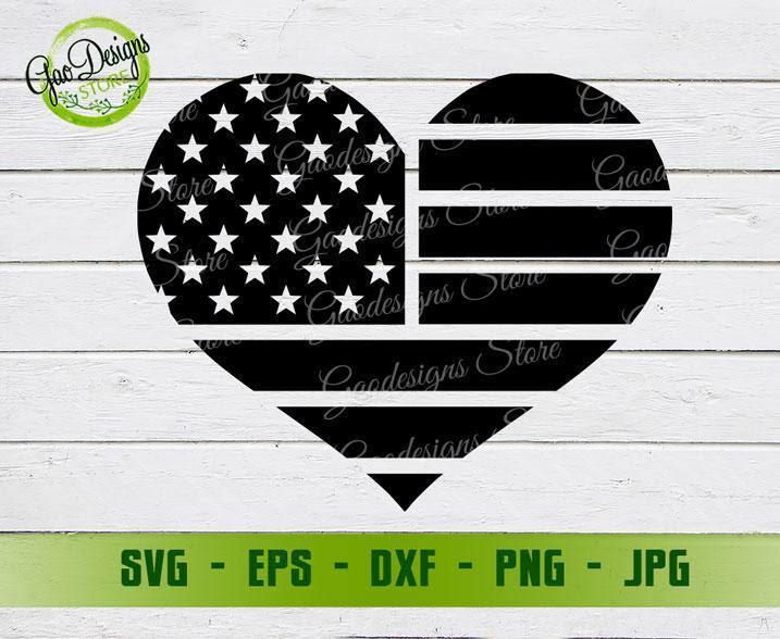 Download American Flag Heart Svg Memorial Svg 4th Of July Svg File For Cricut