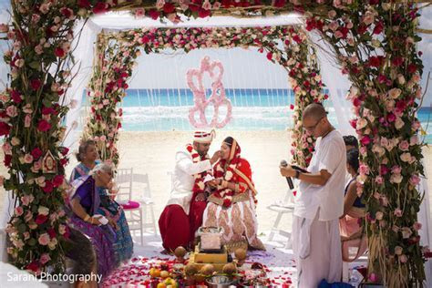 Cancun, Mexico Indian Wedding by Sarani Photography