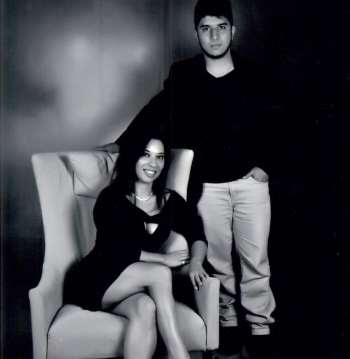 Márcia Farias e o filho Milton Omena Farias Neto