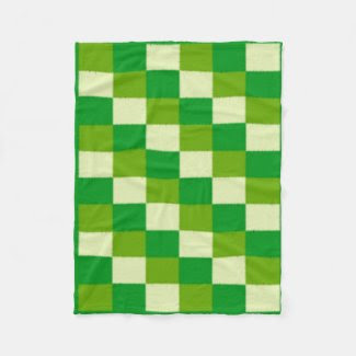 Green Checked Fleece Blanket