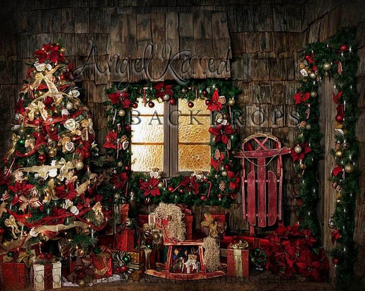 Cozy Christmas Cottage  8x10ft  Photo ideas  Pinterest