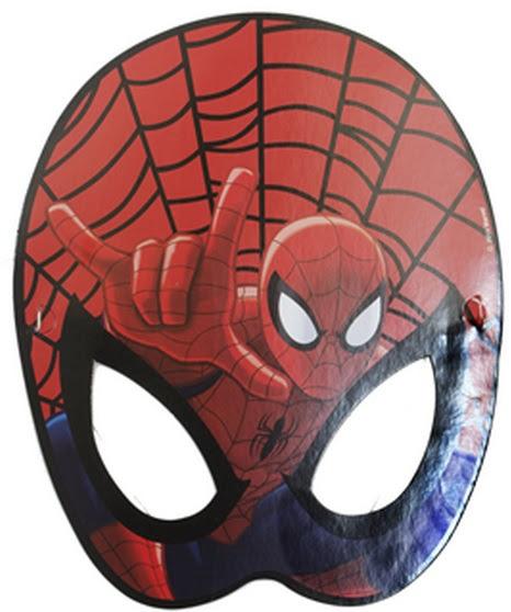 Spiderman Karton Maske örümcek Adam Kağıt Maskeler Balon Park Antalya