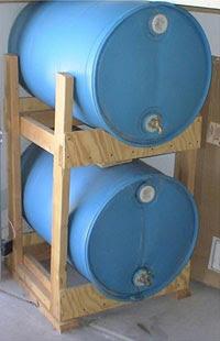 Diy Horizontal Storage Of 55 Gal Water Barrels Utah Preppers