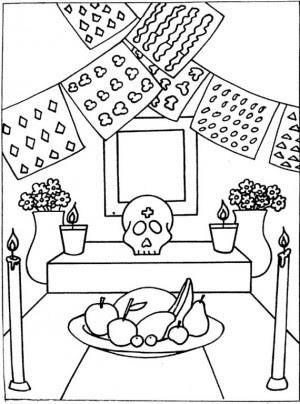 Dia De Los Muertos Para Colorear Pintar E Imprimir
