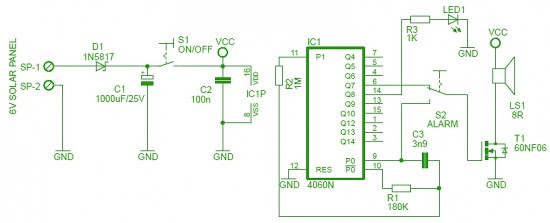bird repeller circuit