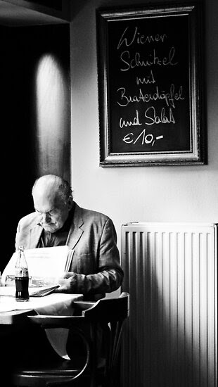 Street Photography: Cafe Man by Shelly Hiebert